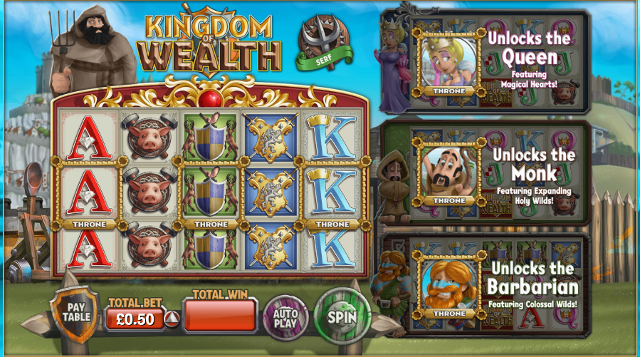 Kingdom of Wealth at jackpot mobile casino