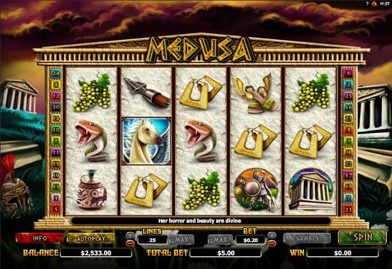 Medusa at jackpot mobile casino
