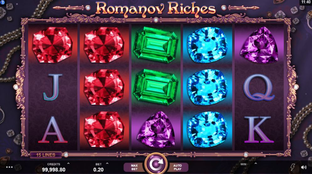 Romanov Riches at glimmer casino