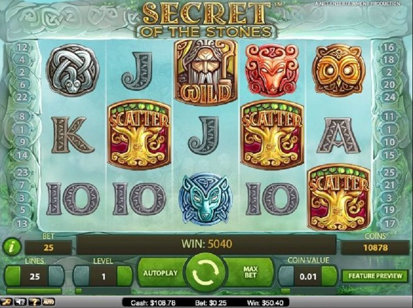Secret of the Stones at scorching slots