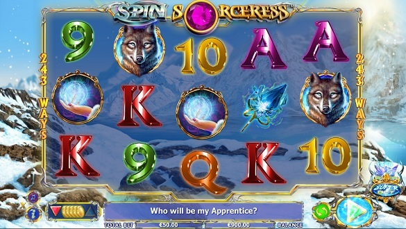Spin Sorceress at jackpot mobile casino