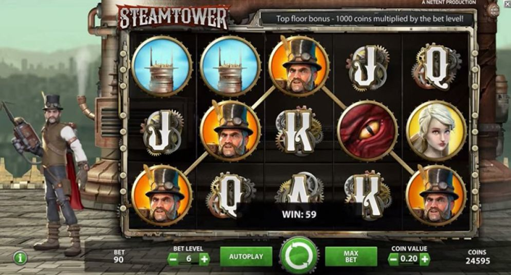 Steam Tower at kerching casino