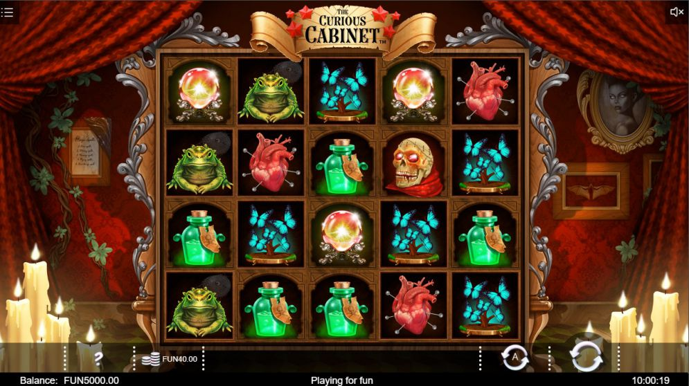 the Curious Cabinet at oreels casino