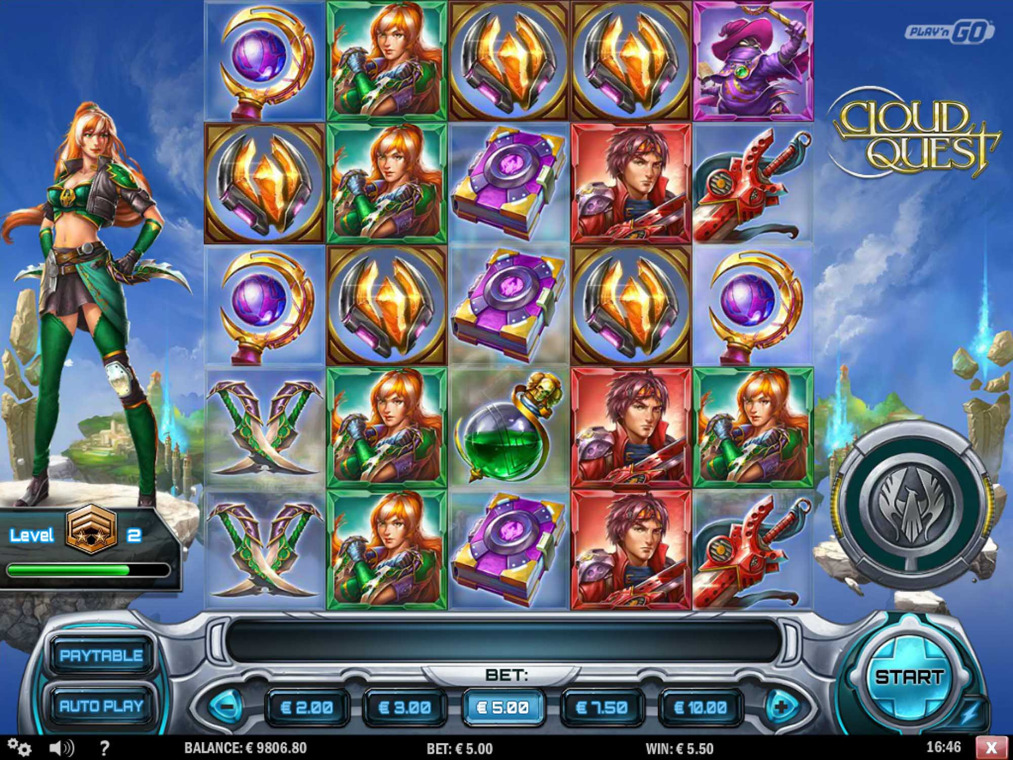 Cloud Quest at netbet casino