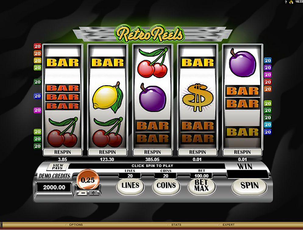 RETRO REELS at glimmer casino
