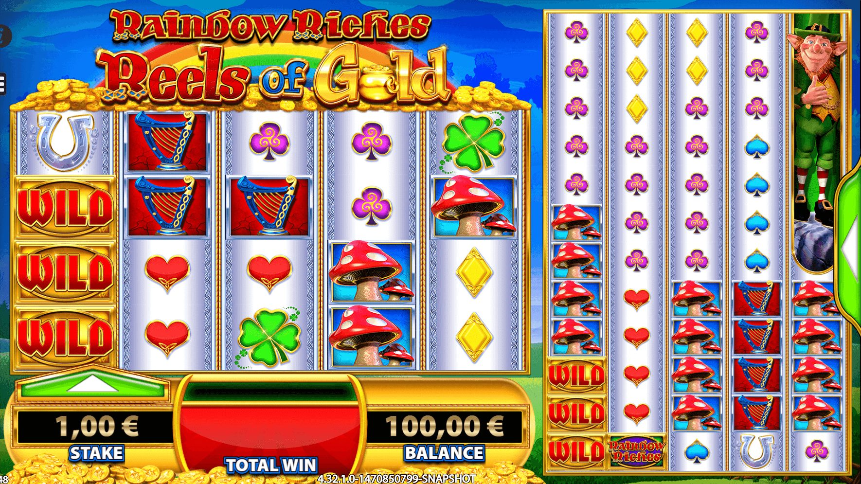 Rainbow Riches Reels of Gold at kerching casino