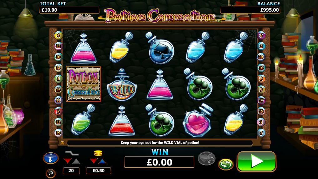 Potion Commotion at dazzle casino