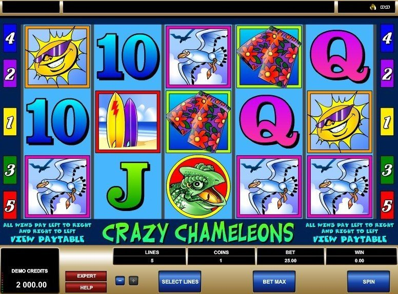 Crazy Chameleons at royal house casino