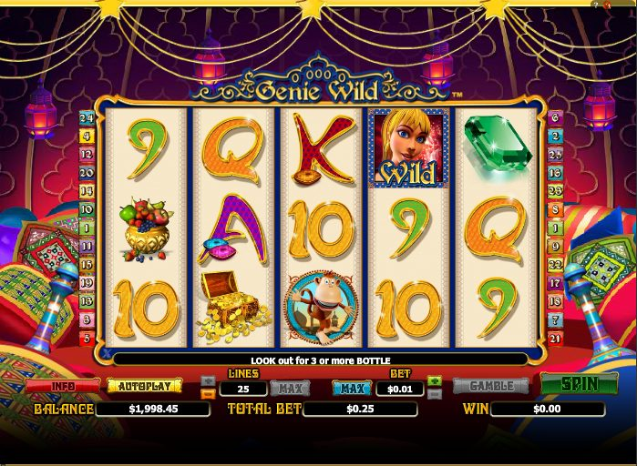 Genie Wild at conquer casino