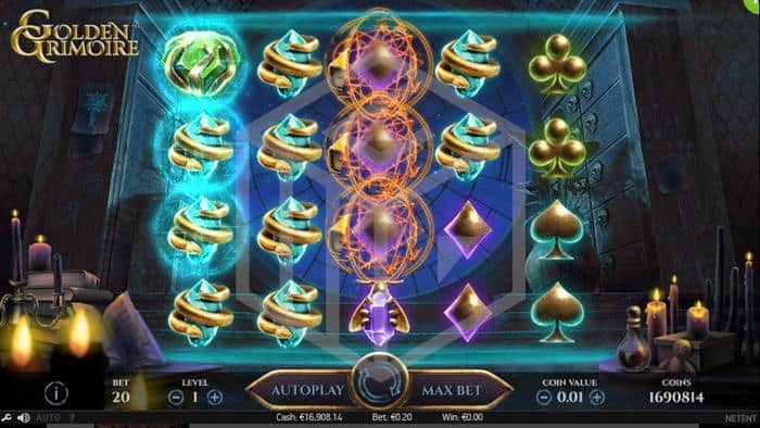Golden Grimoire at conquer casino