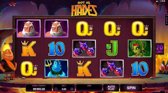 Hot as Hades at vegas paradise casino