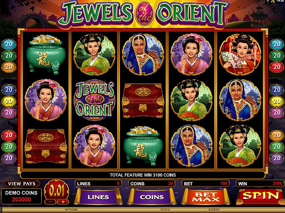 Jewels of the Orient at glimmer casino