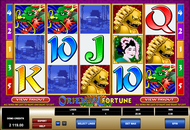 Oriental Fortune at genesis casino