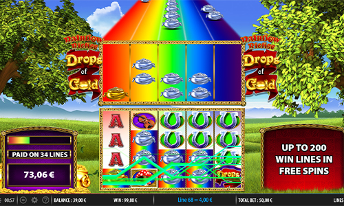 Rainbow Riches Drops of Gold at jackpot jones