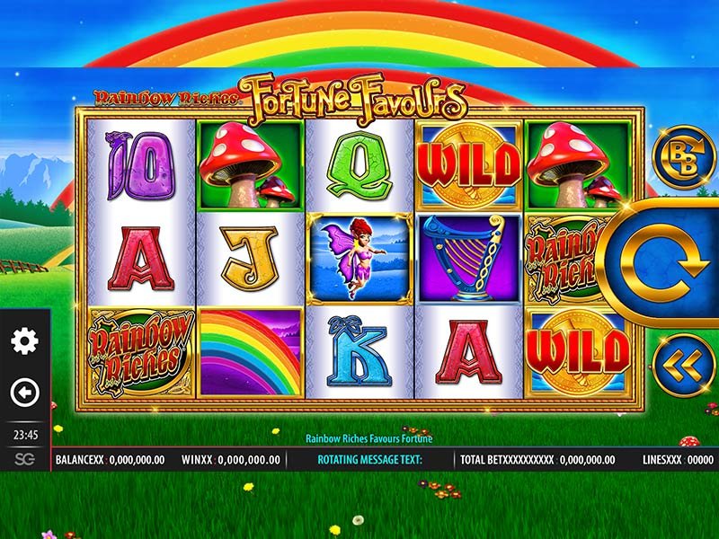 Rainbow Riches Fortune Favours at kerching casino