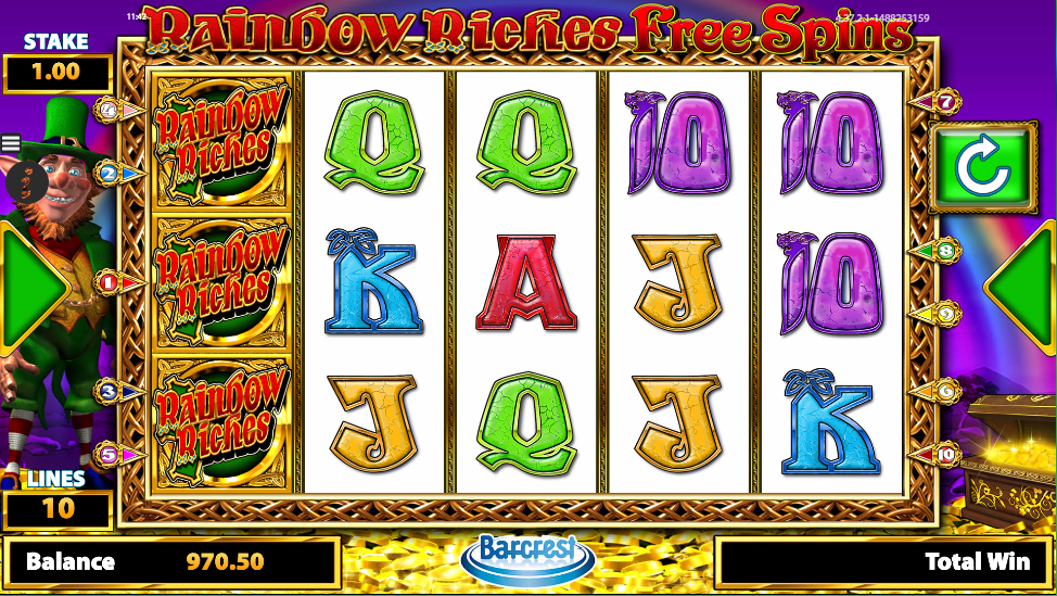 Rainbow Riches Free Spins at spins royale