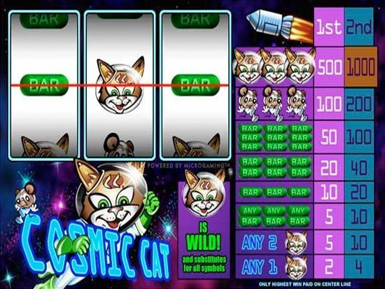 Cosmic Cat at royal house casino
