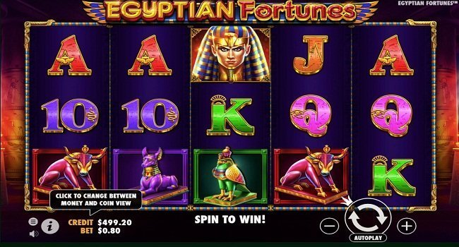 Egyptian Fortunes at kerching casino