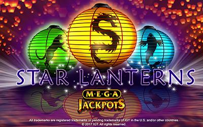 Mega Jackpot Star Lanterns at sapphire rooms