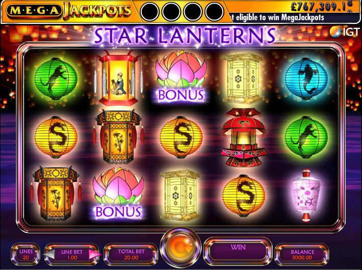 Mega Jackpot Star Lanterns at scorching slots