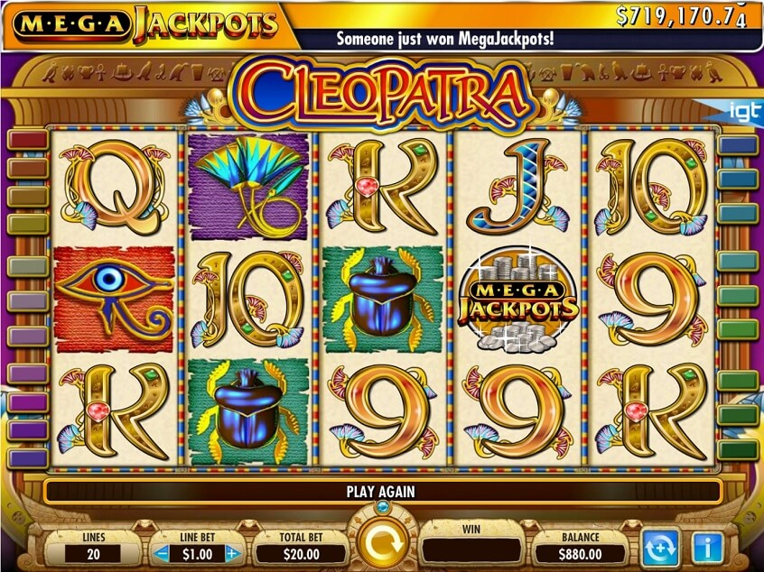 Mega Jackpots Cleopatra at kerching casino