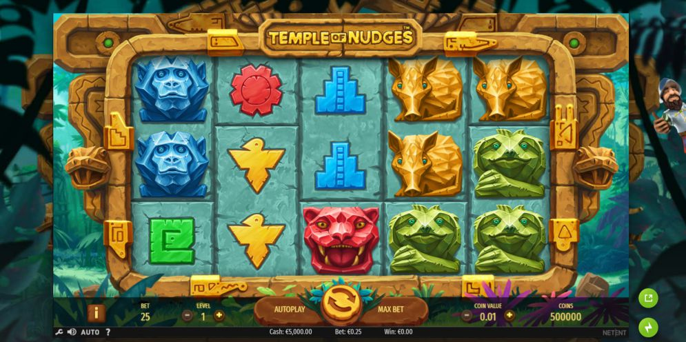 Temple of Nudges at kerching casino