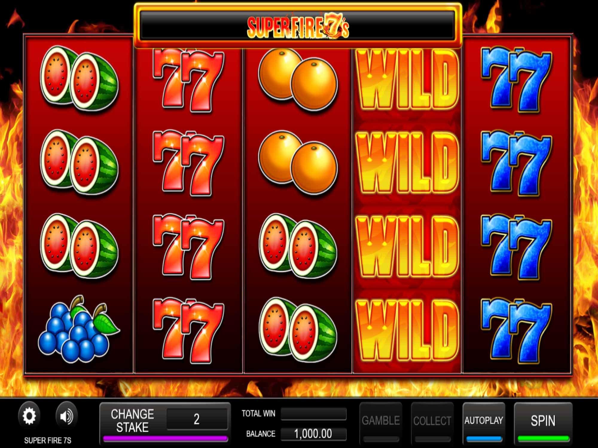 Super Fire 7's at conquer casino