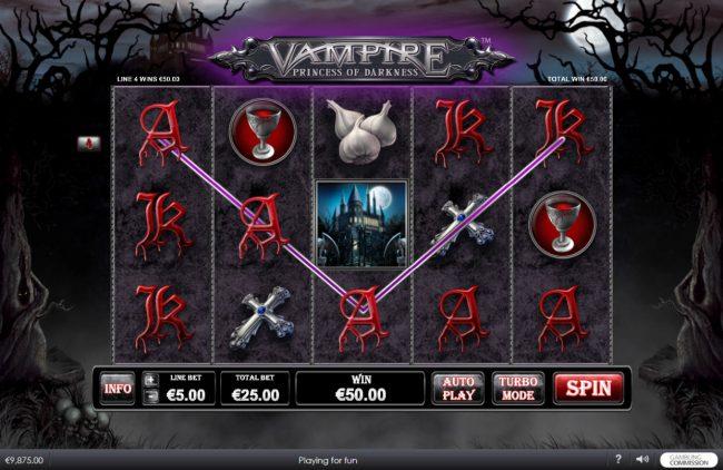 Vampire Princess of Darkness at netbet casino