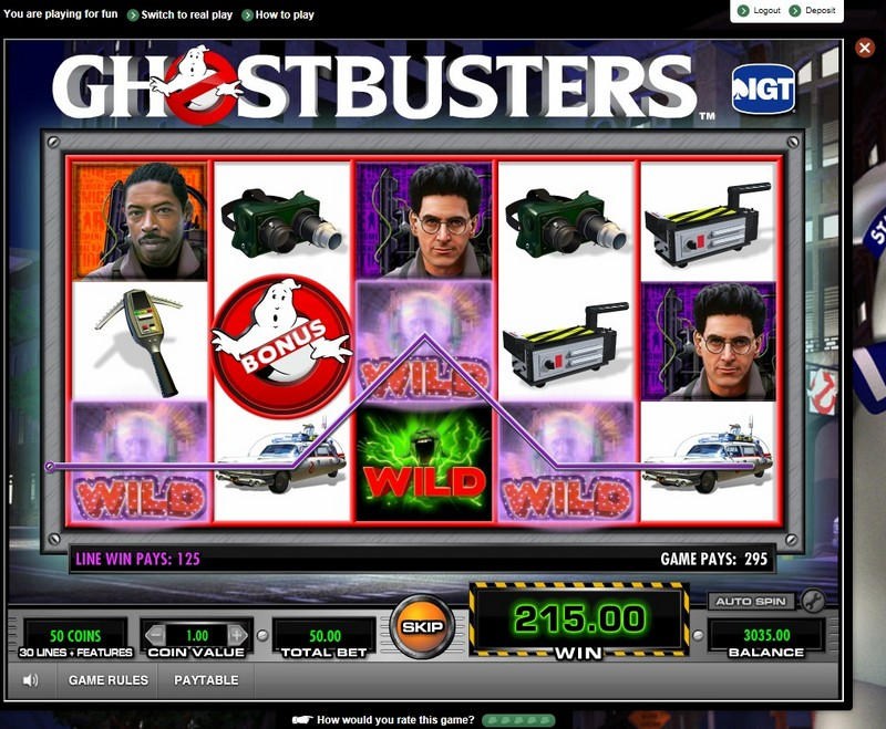 Ghostbusters at netbet casino