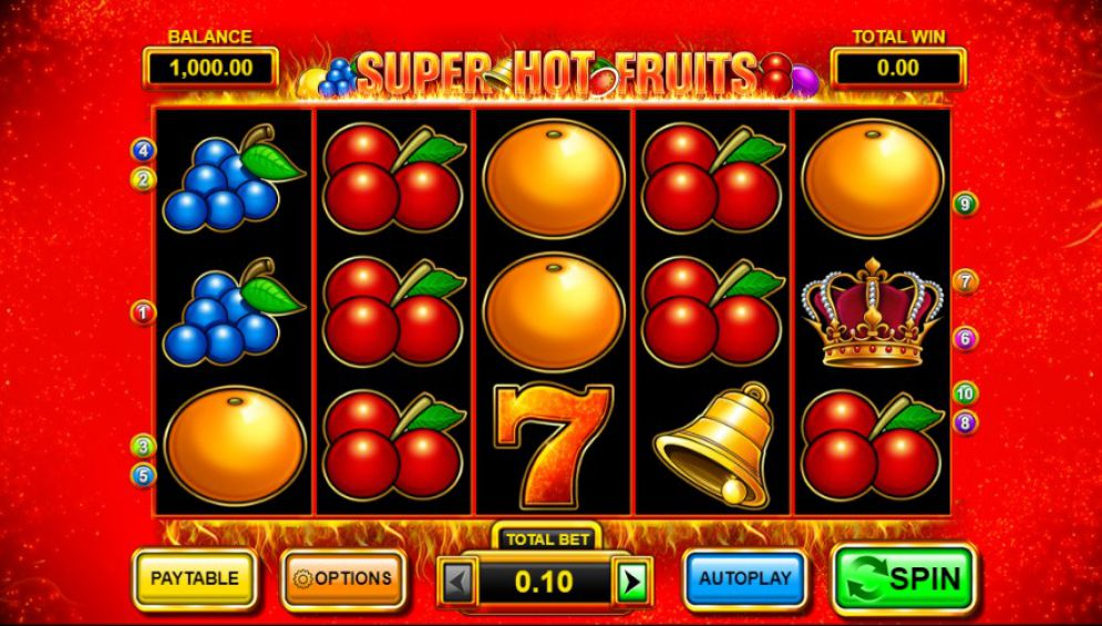 Super Hot Fruits at netbet casino