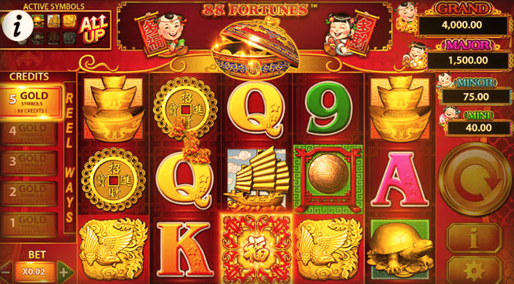 88 Fortunes at vegas paradise casino
