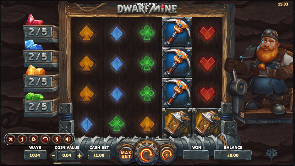 Dwarf Mine at scorching slots
