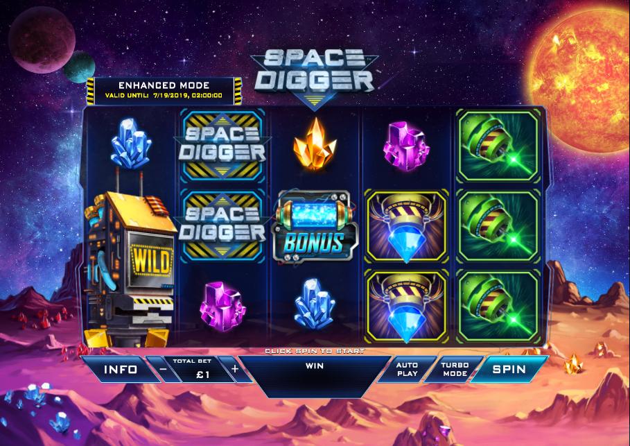 Space Digger at netbet vegas