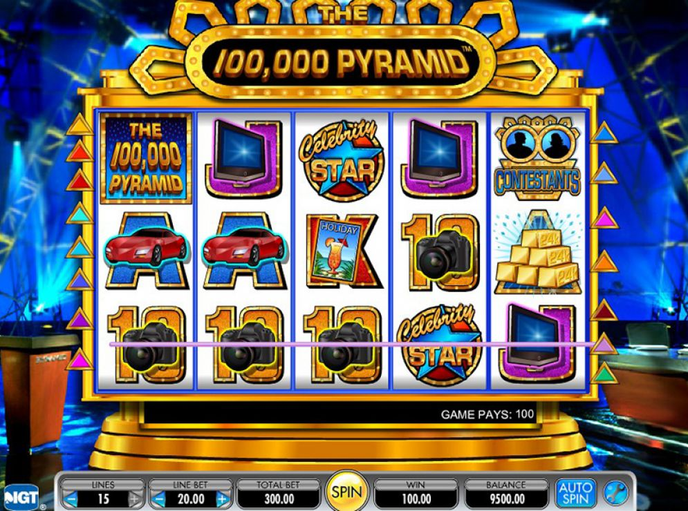The 100,000 Pyramid at kerching casino