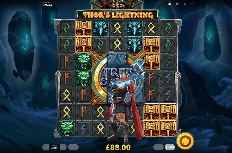 Thor's Lightning at jackpot jones