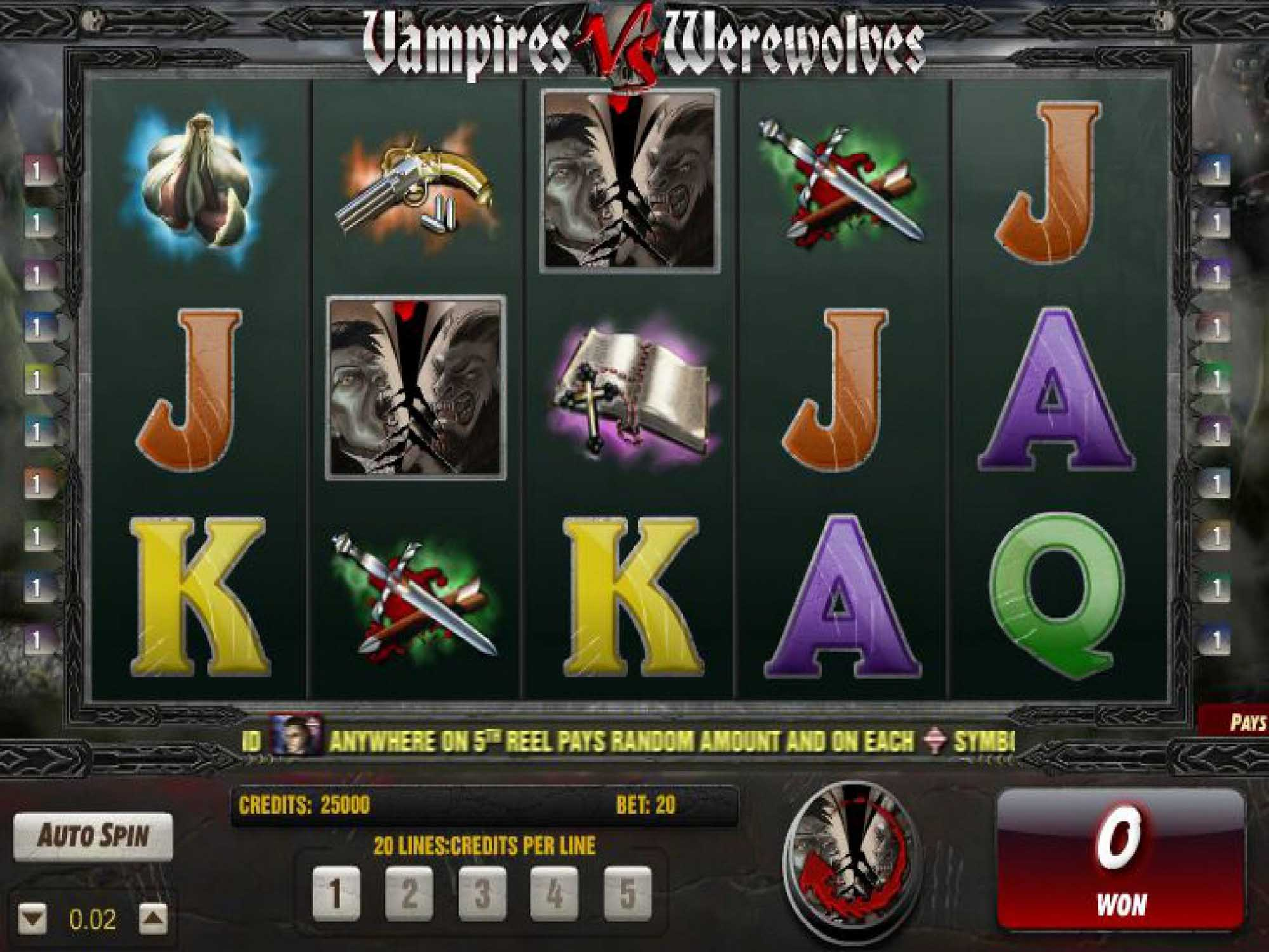 Vampires VS Werewolves at scorching slots