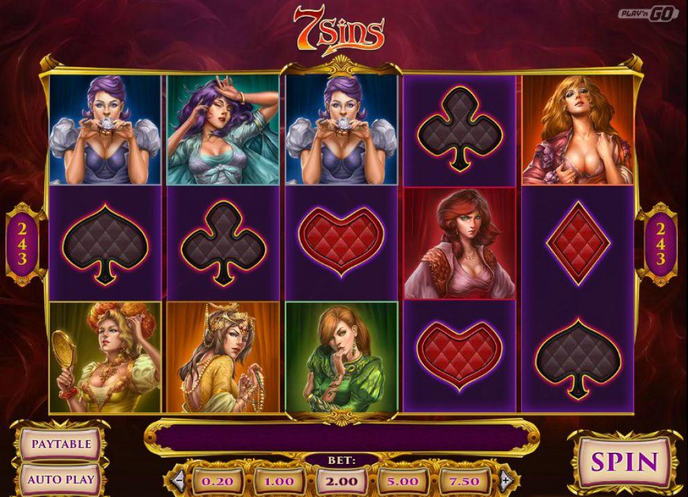 7 Sins at dazzle casino